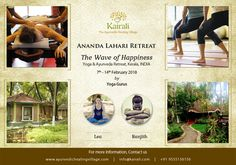 Discover yourself at Ananda Lahari Retreat 2018, Kairali.  Experience the ultimate form of yogic living while assimilating it into your lifestyle with us at Ananda Lahari Retreat 2018 held at Kairali- The Ayurvedic Healing Village, Palakkad, Kerala from February 7-14, 2018. Discover your true self with yoga and meditations blended with ayurvedic therapies and meals, discussions on vedic philosophy, yoga nidra, ancient rituals and a lot more…
