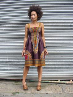 African Dashiki Print Sundress