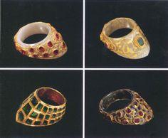 Ottoman archer's rings, (zihgir)