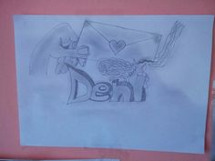 """Desen personalizat cu """"Deni""""."""