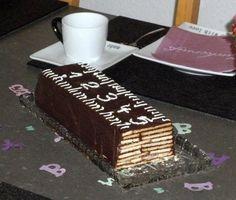 Neben einer Schultüte – auch Zuckertüte genannt -, gab's für J. zur Einschulung ein besonderes Lineal: Ein Keks-Kuchen-Lineal mit Skalierung, M 10:1. Ich kenne diesen Kuchen (ohne Verzi…