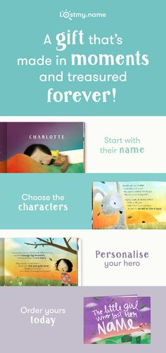 Create a magical, beautiful and thoroughly personalised storybook for your little one. Each child's adventure is unique—built around the letters of their name. A gift that's made in moments and treasured forever.