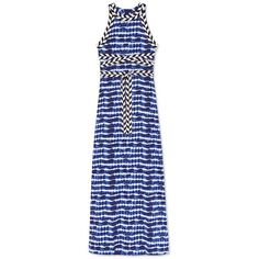 Tory Burch Pelton Dress ($595) ❤ liked on Polyvore featuring dresses, tie dye stripe, bohemian dresses, striped dress, boho dresses, stripe dresses and tie dye dress