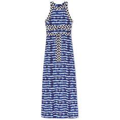 Tory Burch Pelton Dress ($595) ❤ liked on Polyvore featuring dresses, tie dye stripe, bohemian dresses, striped dress, boho dresses, stripe dresses and tie dye dress