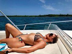 Khloe Kardashian flaunts curves aboard a boat in animal print bikini - Khloe Kardashian flaunts her fab figure while sunbathing in an animal print bikini in the Bahamas Khloe Kardashian Photos, Kardashian Jenner, Kim Kardashian Bikini, Kardashian Family, Kardashian Style, Bikini Pictures, Bikini Photos, Jan Carlos, We Heart It