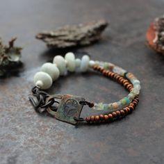 Sun cross bracelet rustic amulet bracelet pagan by solekoru