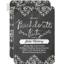 Chalked Damask Party Invitations