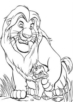 Lion King Coloring Pages Simba. Coloring pages for the remake of the Disney classic Lion King This beautiful, almost real animated film. Simba is a young lion and son of King. Lion Coloring Pages, Family Coloring Pages, Cartoon Coloring Pages, Disney Coloring Pages, Coloring Pages To Print, Printable Coloring Pages, Coloring Pages For Kids, Coloring Books, Kids Coloring