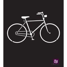 "Prima Designer Stencil 6""X6""-Bicycle"