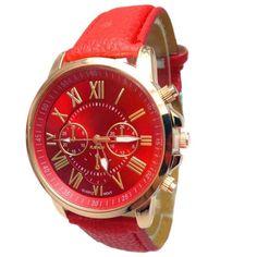 Essential 1PC Men Quartz Dial Clock Leather Round Case Wrist Watch Bangle Bracelet Female Relogio Watches Relojes Oct22