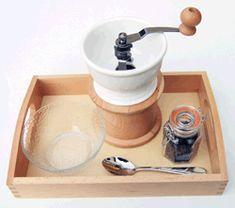 using tools- coffee grinder