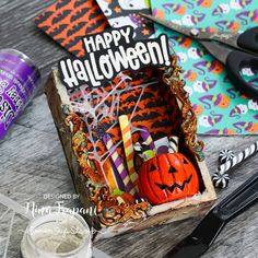 Halloween Candy Vignette + Simon's Limited Edition Halloween Kit! - Nina-Marie Design Spooky Halloween Crafts, Halloween Sweets, Halloween Treat Bags, Halloween Candy, Halloween Decorations, Tim Holtz Distress Ink, Simon Says Stamp Blog, Distressed Painting, Artist Trading Cards