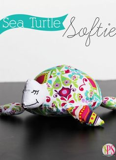 Sea Turtle Softie Sewing Pattern + Tutorial will make the perfect gift or room decor for any little one in your life.