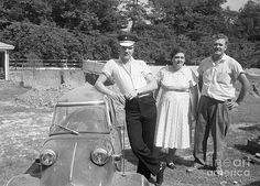 The Phillip Harrington Collection - Elvis and his Messerschmitt with Vernon and Gladys Presley 1956