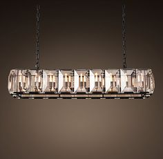 Three Of These Would Be Sweet Over The Bar Harlow Crystal Rectangular Chandelier 62
