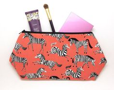 Large Cosmetic Bags Makeup Organizers & by SweetCarolinesDesign