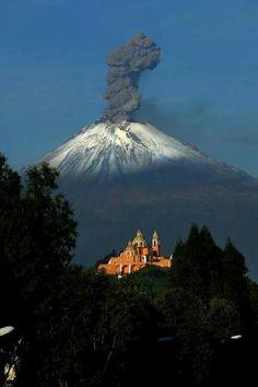 Active volcano. PUEBLA, MEXICO