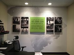 Image result for interesting corporate layered wall graphics