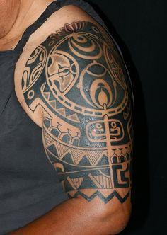 Polynesian Tattoo By Javier Acero. Tattoo & Co. Miami | Flickr - Photo Sharing!