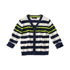 Cherokee® Infant Toddler Boys Long-Sleeve Striped Cardigan Sweater