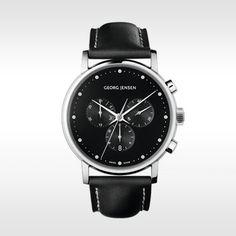 Georg Jensen herenhorloge Koppel 41mm 517 Zwart door Henning Koppel