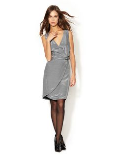 Microcheck Cut-Out Dress by Emporio Armani on Gilt.com