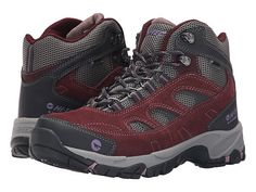 55 Hi-Tec Logan Mid WP Plum/Cool Grey/Elderberry - 6pm.com