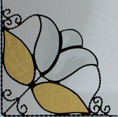 tulip bevel /stained glass window corner/  light by GLASSCORNer