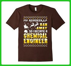 Mens My Reindeer Ran Away So I Became A Chemical Engineer Tshirt Small Brown - Careers professions shirts (*Amazon Partner-Link)