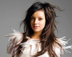 Lily Allen feather dress