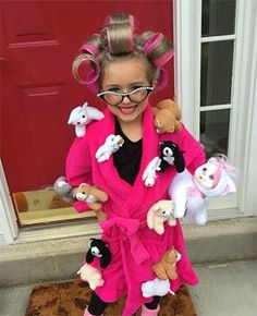 Do you or your kids love cats? This Crazy Cat Lady costume couldn't be easier.  Finds some little plush cats and kittens, add some hair curlers, a robe and you're set.  12 Easy DIY Halloween Costume Ideas for Everyone on Frugal Coupon Living.