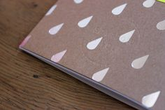 Image of Silver Raindrop A6 Notebook