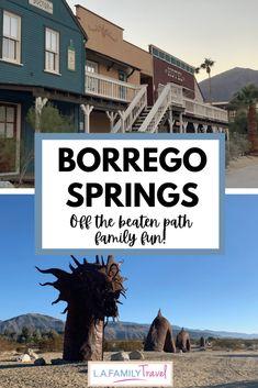 BORREGO springs for family fun with kids! Usa Travel Guide, Travel Info, Travel Usa, Travel Guides, Travel Tips, California Destinations, California Travel, Travel Destinations, Vacation Trips