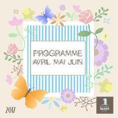 Programme Avril-Mai-Juin #Hardelot #plage #graphisme #spring #printemps
