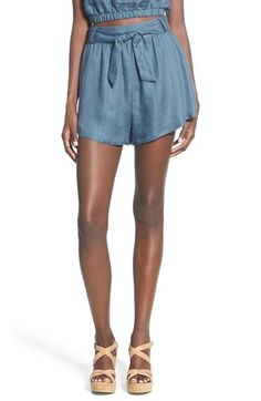 Lush Tie Waist Linen Blend Shorts available at #Nordstrom