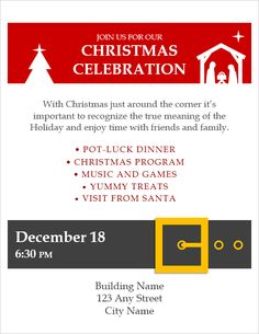 Christmas Flyer Template By Vertex42 Free Templates Sample Resume