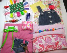 Fidget Sensory Activity Quilt Blanket by TotallySewn on Etsy
