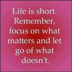 What matters!