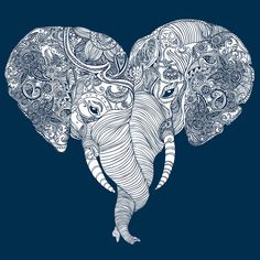 Show your love for exotic animals with these two adorable elephants whose trunks form a heart. In hues of blue and grey, this conveniently machine washable pillow is made of polyester and down alterna