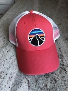 VERY RARE Patagonia Fitz Roy Emblem LoPro unisex Hat in Shock Pink  bf50bb0e17c5