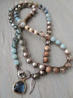 Colorful crochet wrap bracelet necklace anklet The by slashKnots Bohemian Jewelry, Beaded Jewelry, Jewelry Necklaces, Handmade Jewelry, Beaded Bracelets, Jewelry Trends, Jewelry Accessories, Jewelry Design, Diy Accessories