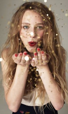 Yes! I want to blow glitter on everyone for New Year's eve! Time to sparkle—who knows what magic it might create...