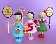 Dimple Prints: Clothes Pin Doll Cake Toppers & Tutorial