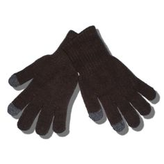 Special conductive yarn on the thumb and index finger of both hands allow you to use your touch screen device while gloves are worn. Stay warm and fashionable this winter while using your favorite touch screen device.