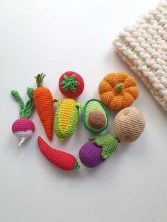 vegetarian gift nursery decor room decor,Vegetables with eyes,Crochet baby toy Crochet ginger boy kawaii- 1 Pc,baby toy Kawaii,food toy