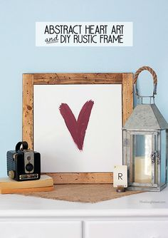 Add rustic charm to your home with this DIY wall art. It looks beautiful with other shabby chic decor.