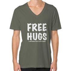 Free Hugs V-Neck (on man) shirt