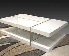 Zuchi Coffee Table With Metal Slice Effect In White 194237 For From Tables Collection At Mydeal Best S