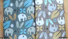 Laminated Cotton Fabric Elephant in 2 Colors By by BonitaFabric, $17.30