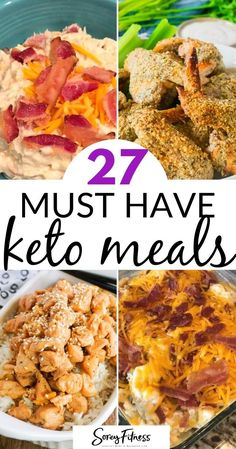 27 Must Have Keto Recipes - Low Breakfast, Lunch, and Dinner Ideas #keto #ketodiet #ketorecipes